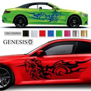 ユニコーンカーステッカー167■バイナルグラフィック車ペガサスカスタム かっこいいデカール 14色から選べる|syarakugenesis