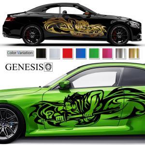 侍カーステッカー174■バイナルグラフィック車ジャパンスタイルカスタム かっこいいデカール 14色から選べる syarakugenesis