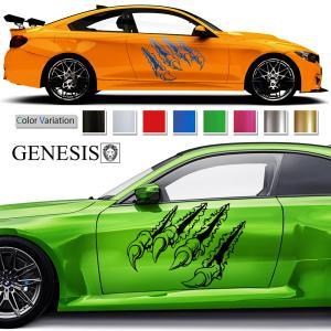 クロウカーステッカー199■バイナルグラフィック車ワイルドスピード系カスタム傷 かっこいいデカール 14色から選べる|syarakugenesis