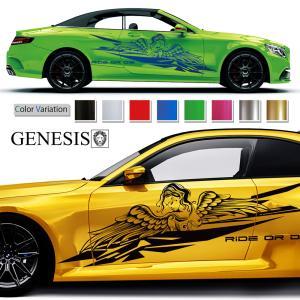 女神カーステッカー224■バイナルグラフィック車ワイルドスピード系デカール14色から選べる|syarakugenesis
