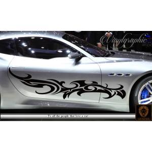 トライバルカーステッカー118車用 ワイルドスピード系バイナルグラフィックカスタムかっこいい 14色から選べる|syarakugenesis