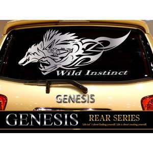 ウルフリアカーステッカー30/車用バイナルグラフィックデカールワイルドスピード系デカール 14色から選べる syarakugenesis