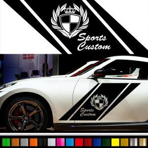 ステッカー かっこいい スポーツ バイナルグラフィック デカール 車用 カスタム ワイルドスピード系 「選べる8色」 scc07|syarakugenesis