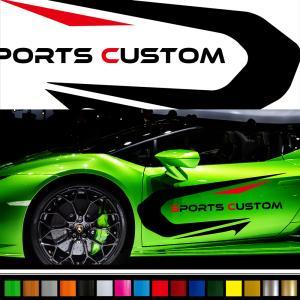 ステッカー かっこいい スポーツ バイナルグラフィック デカール 車用 カスタム ワイルドスピード系 「選べる8色」 scc17|syarakugenesis