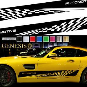 ラインカーステッカー06 最新ユーロスタイルバイナルグラフィック 車用 左右セット かっこいい ワイルドスピード系デカール 【14色から選べる】|syarakugenesis