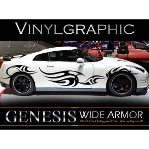 トライバルカーステッカーwa1■バイナルグラフィック車ワイルドスピード系カスタム かっこいい 14色から選べる|syarakugenesis