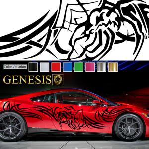 トライバルカーステッカーwa2■バイナルグラフィック車ワイルドスピード系デカール かっこいい 14色から選べる|syarakugenesis