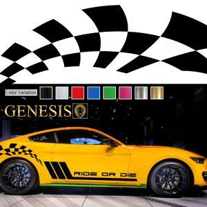チェッカーカーステッカーwa3■バイナルグラフィック車ワイルドスピード系デカール かっこいい 14色から選べる|syarakugenesis