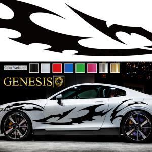 トライバルカーステッカーwa6■バイナルグラフィック車ワイルドスピード系デカール かっこいい 14色から選べる|syarakugenesis
