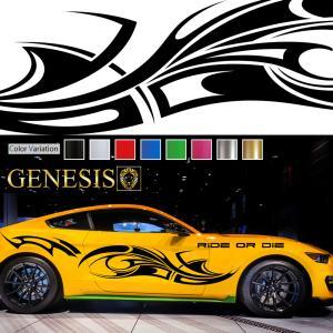 トライバルカーステッカーwa16■バイナルグラフィック車ワイルドスピード系デカール かっこいい 14色から選べる|syarakugenesis