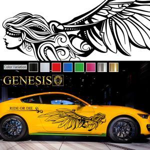 女神カーステッカーwa26■バイナルグラフィック車ワイルドスピード系デカール かっこいい 14色から選べる|syarakugenesis
