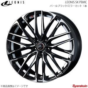 LEONIS SK/レオニスSK トヨタ プリウス/プリウスPHV 50系 GR SPORT 含む アルミホイール 1本 【15×6.0J 5-100 INSET45 PBMC】|syarakuin-shop