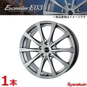 Exceeder/エクシーダー E03 ホイール 1本 カムリ ACV35 【 215/50R17 7.0J P.C.D114.3 5穴 INSET 38 ダークシルバー (DS) 】|syarakuin-shop