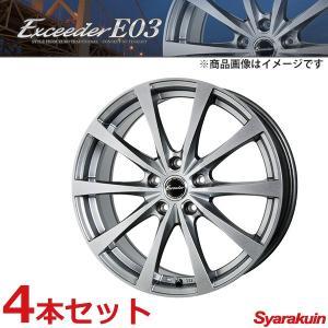 Exceeder/エクシーダー E03 ホイール 4本セット スイフト スポーツ ZC32S 【 195/45R17 7.0J P.C.D114.3 5穴 INSET 48 ダークシルバー (DS) 】|syarakuin-shop