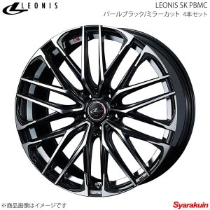 LEONIS SK/レオニスSK トヨタ アルファード/ヴェルファイア 30系 (ハイブリッド含む) アルミホイール 4本 【16×6.5J 5-114.3 INSET40 PBMC】|syarakuin-shop