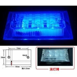 LED3 ハイパワーフラットマーカーランプ ネオ 24v ブルー (534501)|syarunet