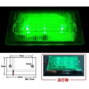 LED3 ハイパワーフラットマーカーランプ ネオ 24v グリーンレンズ/グリーン (534513)|syarunet
