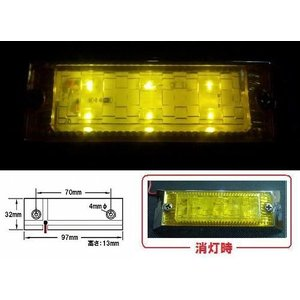 LED6 ウルトラフラットマーカーランプ 24v イエローレンズ/イエロー (534598)|syarunet