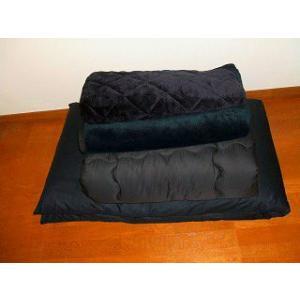 トラック用 (ふとん) 洗える掛ふとん+綿敷ふとん+ あったか敷きパット毛布+マイヤー仮眠掛毛布 4点セット(発送グループ:A)|syarunet
