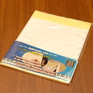 バンドファイル バインダータイプ 追加用 リフィル ポケット 20枚 楽譜ファイル 吹奏楽 MR-20 音楽雑貨 発表会 記念品