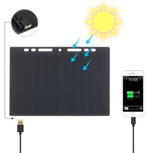 ノートサイズ ミニ 太陽電池 ソーラーパネル ユニバーサル充電器 10W 5V単結晶シリコンエポキシ|synergy2