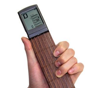 ポータブル ポケット 練習用 弦つき アコースティックギター 液晶画面 コード表示つき|synergy2