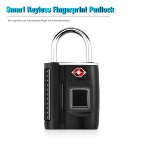 指紋認証 TSA スマート キーレスロック 南京錠 海外旅行対応 synergy2