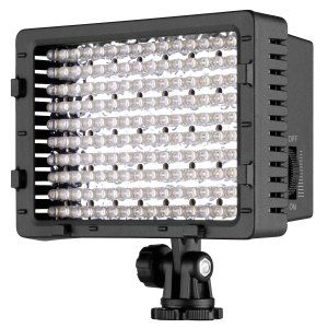 160 LED ビデオライト 一眼レフカメラ ホットシュー対応