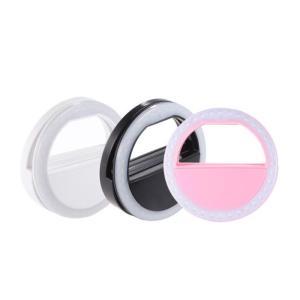 スマートフォン・タブレット用 クリップオン LED 自撮りミニリングライト|synergy2