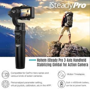 GoProなど多くのアクションカメラに対応するジンバル 手の動きに敏感に適応する3軸可変速追従機能 ...