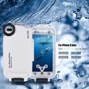 Apple iPhone 8 Plus対応 40m ダイビング 防水ハウジング ケース|synergy2