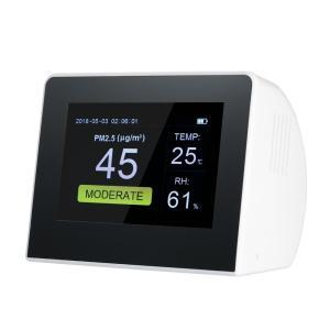 ポータブル リアルタイム 屋内/屋外 空気モニター PM 2.5 ホルムアルデヒド (HCHO) 揮発性有機化合物 (TVOC)  モニター 検出器|synergy2