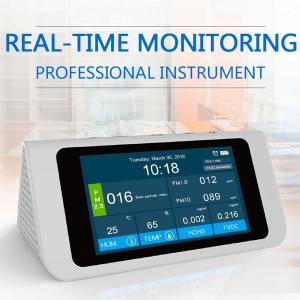 高精度 多機能 PM 2.5 PM 1.0 PM 10 ホルムアルデヒド (HCHO) 揮発性有機化合物 (TVOC) 空気質指数 (AQI) 検知器 温度計 湿度計|synergy2