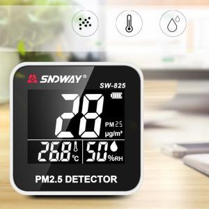 リアルタイム PM 2.5 モニター 検出器 温度/湿度メーター|synergy2