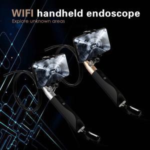 iOS Androidスマートフォンホルダー付き Wi-Fiワイヤレススコープ スティック 1m 8 LEDライト IP67防塵・防水 検査用カメラ|synergy2
