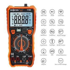 20A デジタルマルチメーター 600カウント NCV HFE True-RMS 100mF 静電容量 AC/DC 電圧・電流 温度測定|synergy2