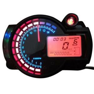 かんたん取り付け アナログタコメーターとデジタルメーターの組み合わせ 最高スピード表示:199Km/...