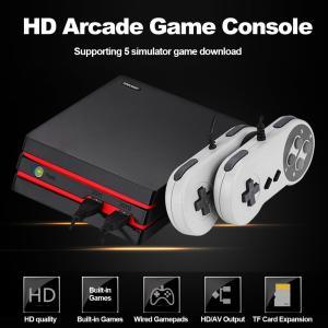 600種類のレトロアーケードゲームを内蔵 USB接続デュアル有線ゲームパッド付属 SDカード拡張に対...