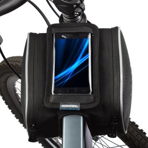 Roswheel 自転車用トップチューブバッグ( 5インチスマートフォン収納型ダブルパニエポーチ/1.8L/12813)|synergy2