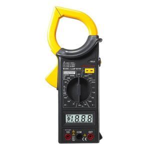 電流計、電圧計、抵抗計が一体となったデジタルクランプメーター 交流/直流電圧、交流電流、抵抗、温度を...
