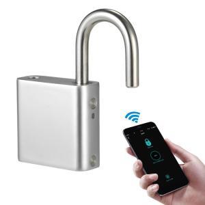Android iOS対応 Bluetooth 指紋認証 パスワード スマート キーレスロック 南京錠 IP65 防塵 防水 synergy2