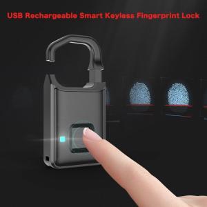 指紋認証 スマート キーレスロック 南京錠 スーツケース バックパック対応 synergy2