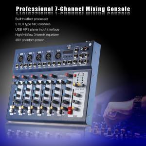 7チャンネル マイク ライン オーディオ デジタル ミキサー ミキシングコンソール 3バンド EQ 48Vファンタム電源|synergy2