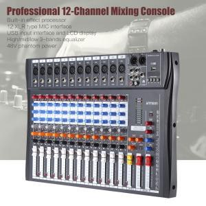 プロフェッショナル 12チャンネル マイク ライン オーディオ デジタル ミキサー ミキシングコンソール 3バンドEQ 48Vファンタム電源|synergy2