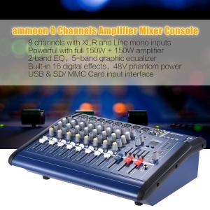 8チャンネル パワーミキサーアンプ デジタル オーディオ ミキシングコンソール 3バンド EQ 48Vファンタム電源|synergy2