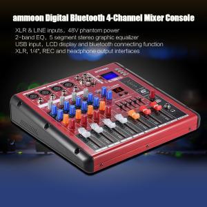 Bluetooth 4チャンネル マイク ライン オーディオ デジタル ミキサー ミキシングコンソール 2バンド EQ 48Vファンタム電源|synergy2