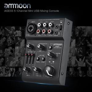 ammoon AGE03 5チャネル ミニ マイク-ライン ミキサーUSBオーディオインターフェイス 内蔵エコーエフェクト|synergy2