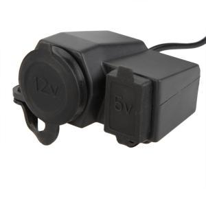 オートバイ用 12-24V シガーソケット電源アダプター 5V 2.1A USBポート 防水充電器|synergy2