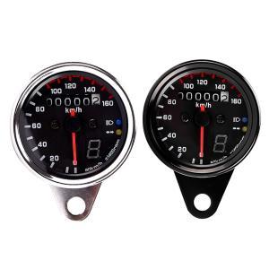 オートバイ用 12V ユニバーサル スピードメーター ギアポジション LEDバックライト|synergy2