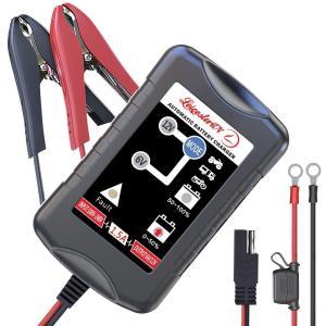 オートバイ、自動車、船舶用バッテリーの充電に対応 家庭用コンセントで充電 6Vまたは12V出力に対応...